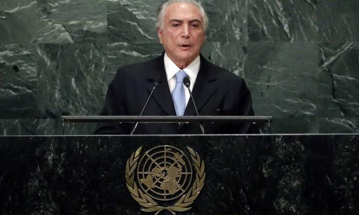 Michel Temer ONU discurso