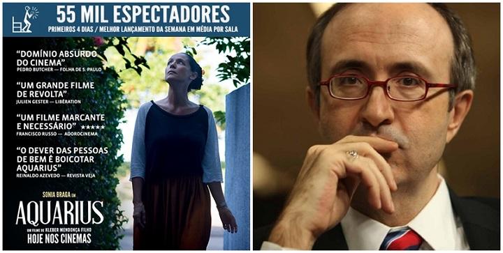 Reinaldo Azevedo reclama cartaz de Aquarius