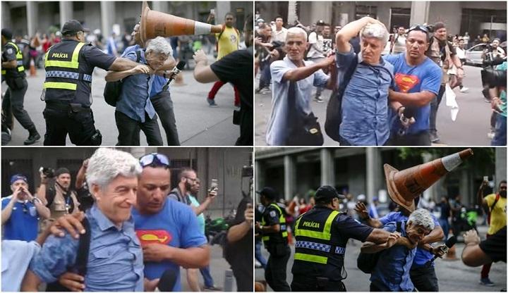 Agressão a Caco Barcellos culpa é da Rede Globo
