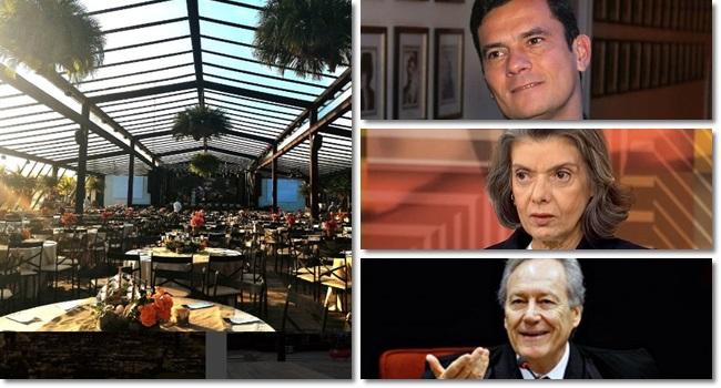 Empresa corrupta banca evento juízes resort moro Cármen Lúcia Lewandowski