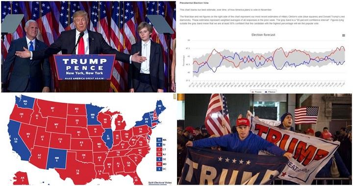 pesquisa eleitoral vitória de Donald Trump