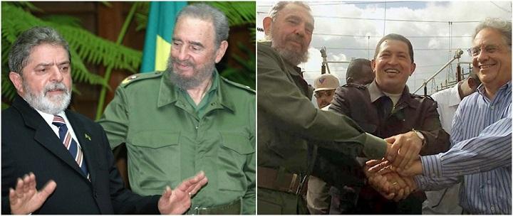 Fidel Castro Lula FHC Brasil