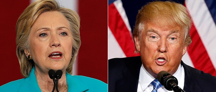 pesquisa para presidente hillary trump