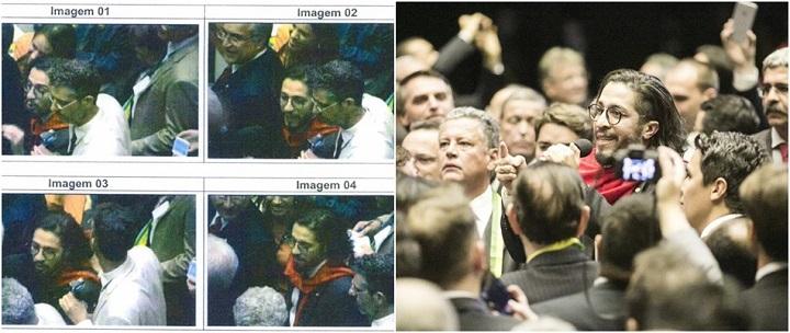 Jean Wyllys é montagem Bolsonaro cuspe
