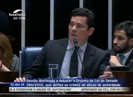 Sergio Moro abuso de autoridade senado