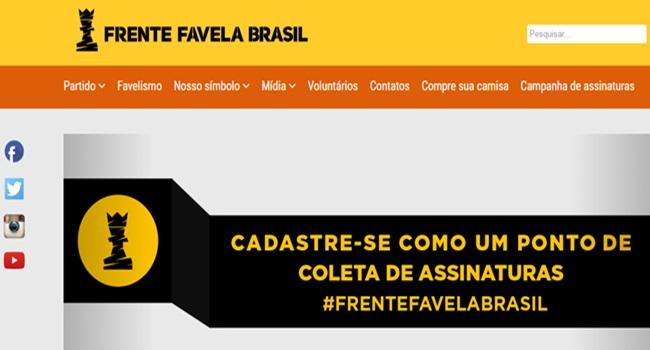 partido frente favelas brasil oficial passo importante