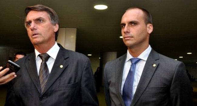 família Bolsonaro jair eduardo grave papuda