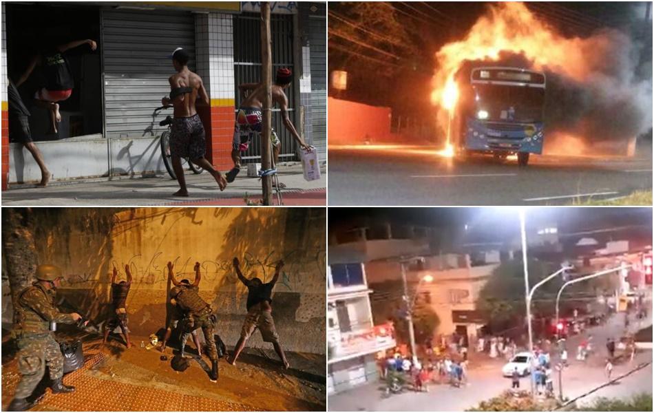 origem caos Espírito Santo pede socorro polícia militar