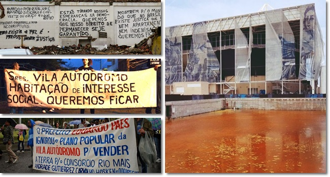 famílias removidas parque olímpico Vila Autódromo