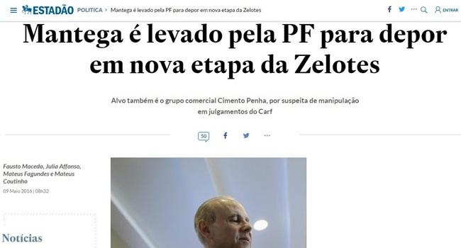 Estadão não destaca absolvição Guido Mantega