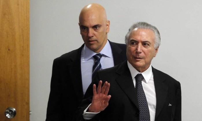 Alexandre de Moraes Michel Temer STF