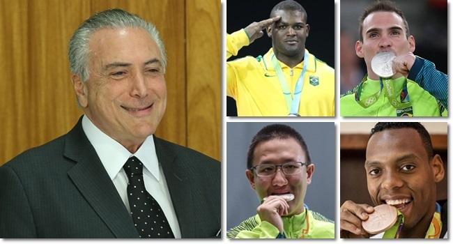Governo Temer corta bolsas de medalhistas olímpicos