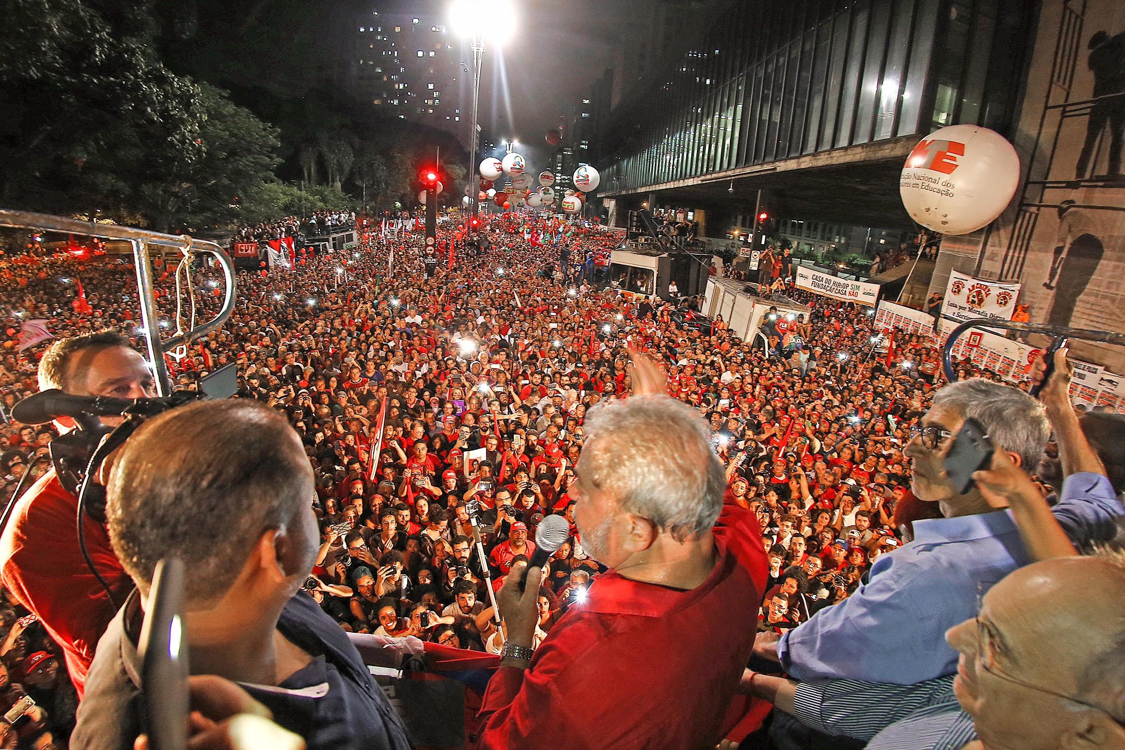 Resultado de imagem para lula avenida paulista