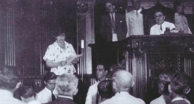primeira mulher a discursar câmara parlamento brasil
