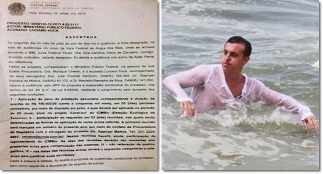 televisão escondeu crime ambiental exigências do MPF contra Luciano Huck