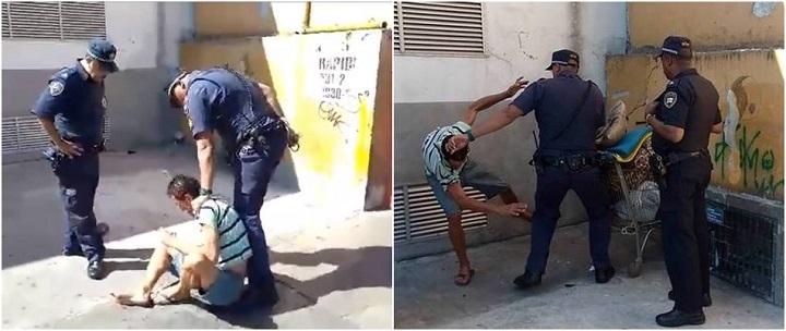 guardas agridem morador de rua