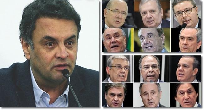 Aécio Neves senadores defenderam inocente corrupção