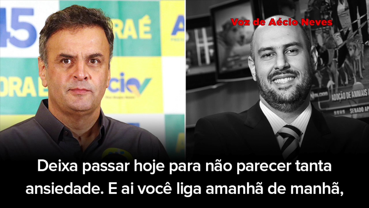 áudio aécio neves tv record