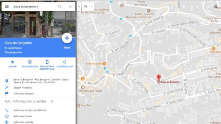 google maps boca da benjmanin