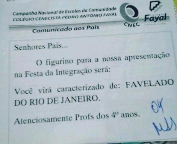 escola de Santa Catarina favelados rio de janeiro
