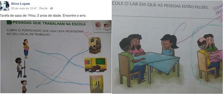 exercício racista racismo livro escolar
