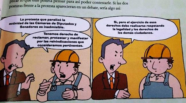 manual argentina contra trabalhadores educação greve
