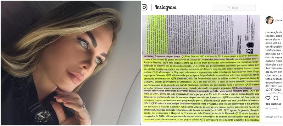 Ex-primeira dama tem fotos íntimas Pâmela Bório Ricardo Coutinho nudes