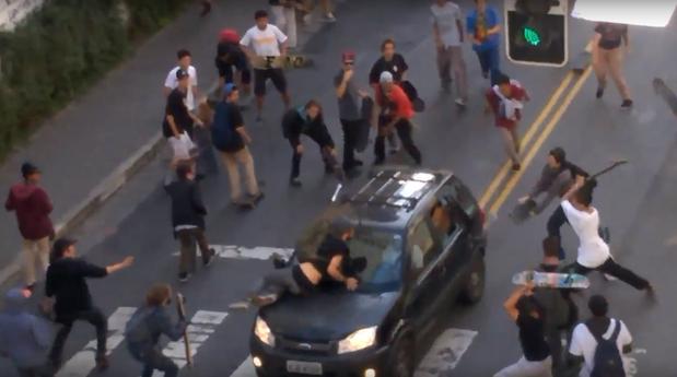 motorista skatistas atropela são paulo