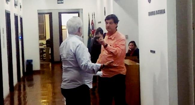 vídeo secretários doria batem boca prefeitura André Sturm Milton Flávio