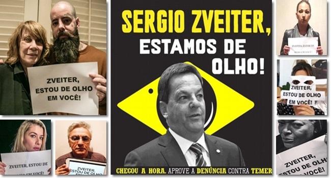 artista campanha sergio zveiter investigar temer fora