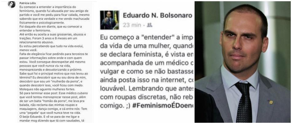 Eduardo Bolsonaro Patrícia Lélis