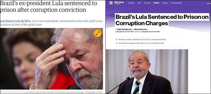 condenação de Lula mídia internacional