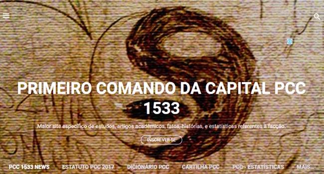 facção pcc primeiro comando da capital site internet