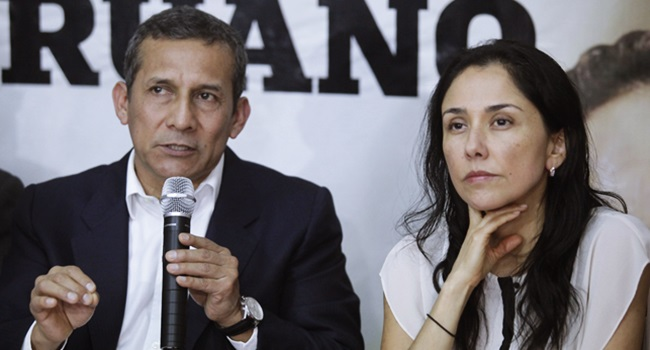 prisão Ollanta Humala Nadine peru odebrecht esquerda lava jato