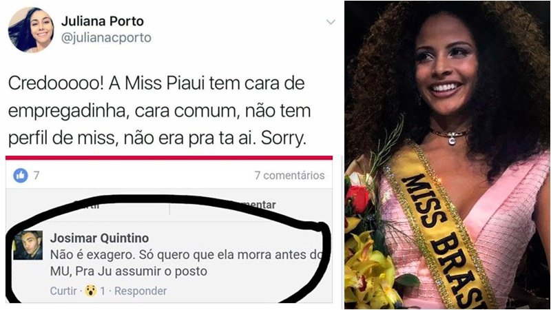 comentários racistas nova miss brasil