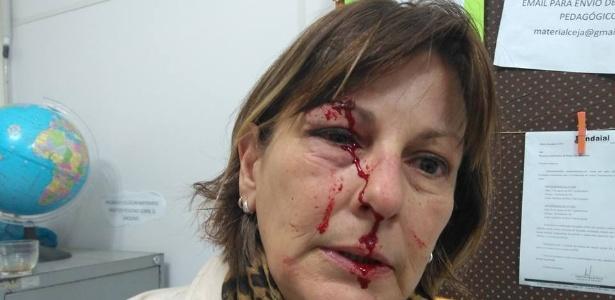 professora agredida aluno