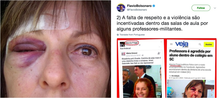 professora agredida bolsonaro