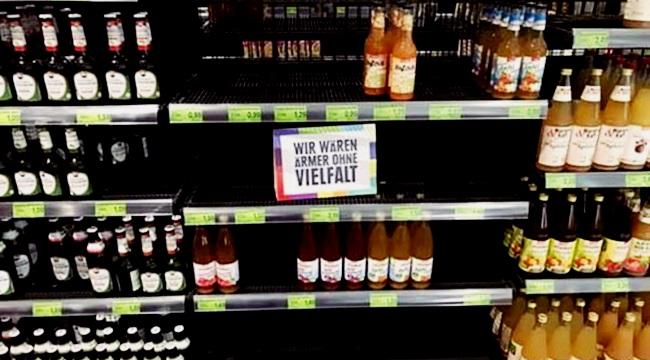 supermercado alemão retira produtos estrangeiros prateleira