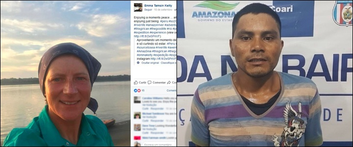 britânica morta piratas do amazonas