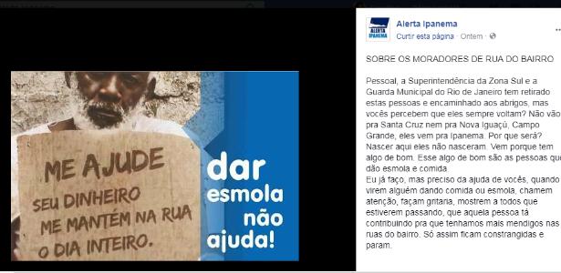 campanha esmola morador de rua rio de janeiro