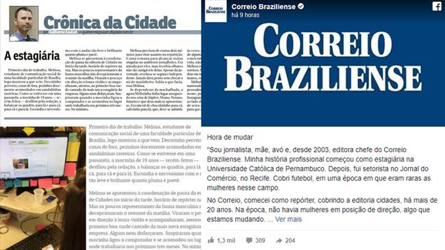 correio braziliense pede desculpas crônica machista