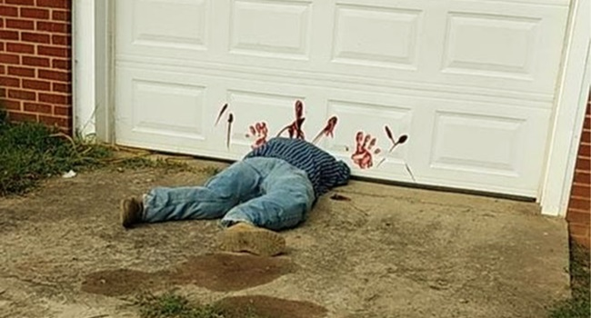 decoração de halloween provoca ocorrência policial eua
