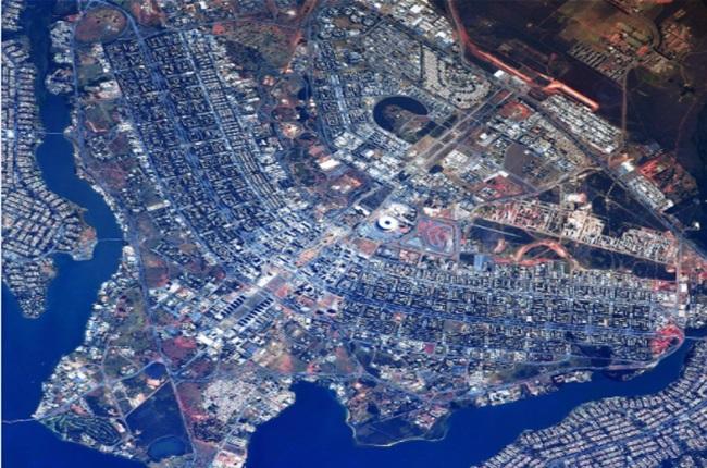 imagem brasília vista do espaço fotografia incrível