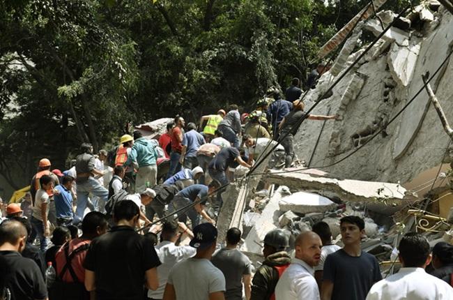imagens mais marcantes terremoto méxico setembro 2017