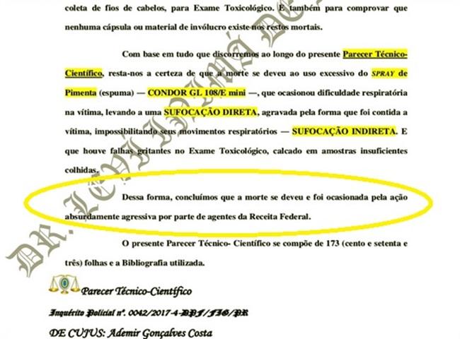 polícia federal retarda exumar corpo ademir gonçalves receita federal
