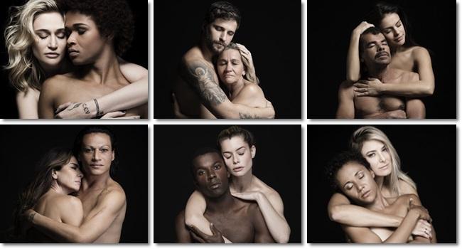 realidade dos abraços celebridades campanha Nós moradores de rua