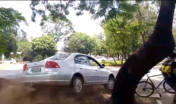 atropelar ciclistas Brasília