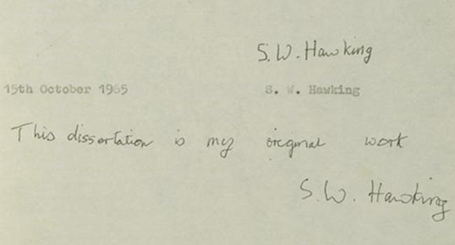 site cambridge acessos publicar tese de Hawking
