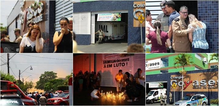 ataque em Goiás colégio Goyases