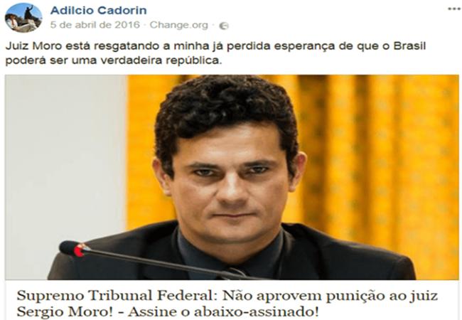 fã de moro líder separatista condenado improbidade corrupção